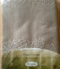 """Heritage lace Sheer Divine -60""""x84""""floral Panel- Flax"""