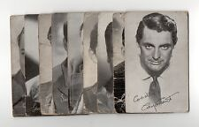 1940's 1950's Actor Film Star Exhibit Arcade Cards, Lot of 9 #2 Cary Grant