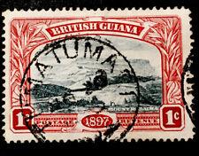 """British Guiana """"Mount Roraima"""" 1898 VFU 1c STAMP LH"""