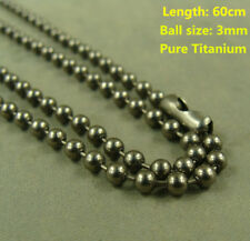 Pure Titanium anti-allergy Necklace Ti 3mm Ball chain 60cm length (custom made)