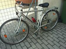 bici bicicletta city bike uomo cambio Shimano pronta uso ruota 28 colore argento