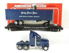 AMERICAN FLYER S Scale 6-48479 NASG NKP Flatcar + Ertl Tractor Trailer ~MIB~ T95