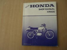 Werkstatthandbuch Honda XR500 XR 500 Repair shop service manual