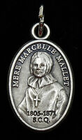 Vintage Nun Medal Mother Mere Marcelle Mallet Quebec Sisters Charity Sunflower