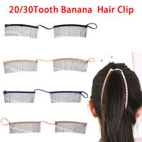 20/30Teeth Banana Clip Hair Clincher Interlocking Two Side Stretchable Hair CoCR