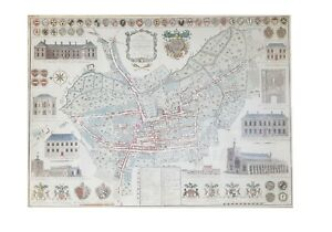 A1 Print Of Historic 1776 Map of Bury St Edmunds By Thomas Warren