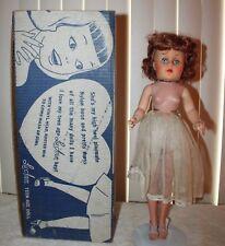 "Vintage 50's Lu Ann Hard Plastic & Vinyl Teenage Fashion Doll - Red Hair 18"""