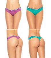 Laura Women's Cotton Thong Underwear Waist Prints S M L Thong for Teen Girls
