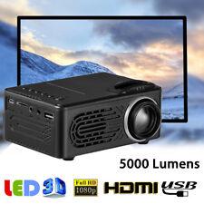 5000 Lm HD 1080P LED Multimedia Projector Home Theater Cinema VGA HDMI USB SD