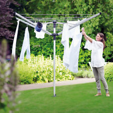 BRABANTIA LIFT-O-MATIC 60m ROTARY AIRER WASHING LINE with GROUND SPIKE & COVER