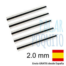 5 tira 40 pines 2.0 mm conector pin macho male soldar electronica prototipo DIY