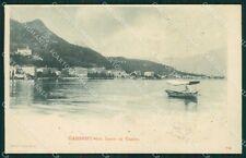 Brescia Gardone Lago di Garda Barca cartolina XB1228