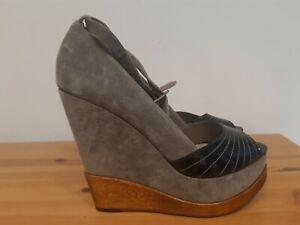 Jaeger Womens Platform  Suede Shoes Size 6.5(Eur 39)