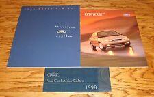 1998 Ford SVT Contour Sales Brochure Color Guide Lot of 3 98