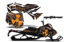 Snowmobile Graphics Kit Decal Sticker Wrap For Ski Doo Rev XM 13-16 MELTDOWN O K