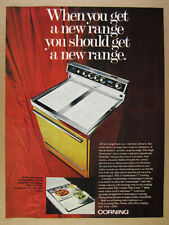 1970 Corning Counterspace Range Oven & Cooktop vintage print Ad