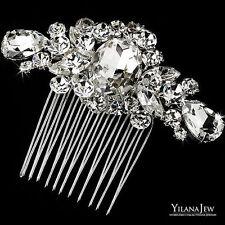 SALE Wedding Vintage Diamante Swarovski Crystal Rhinestone Hair Comb Headpiece