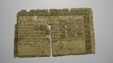 1767 $2 Annapolis Maryland MD Colonial Currency Bank Note Bill! Revolutionary