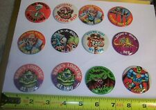 Lot of 12 Topps Ugly Buttons Pinback  blemish week I'M SUPER Driving me Bats Boo