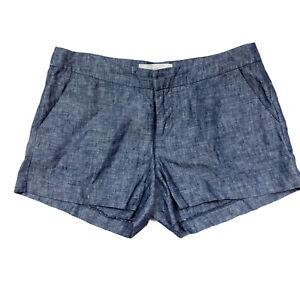Joie Women's Size 0 Merci Blue Chambray Linen Shorts