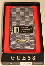 Premium Guess Book Case Cover Handytasche Jet Set iPhone 6 6S blau Schutzhülle
