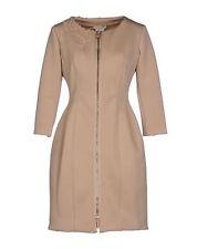 SCERVINO STREET WOMEN SAND TAN NEOPRENE DRESS/COAT NWT SIZE 42 MSRP 473$