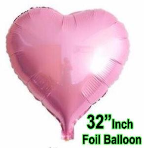 "32"" BIG LOVE HEART FOIL BALLOON. WEDDING VALENTINES BIRTHDAY PARTY BALLOONS UK"