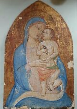 ANTIQUE 16c-17c HAND PAINTED ITALIAN SCHOOL ICON MOTHER OF GOD