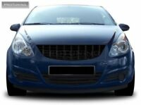 Opel Vauxhall Corsa D Black grill opc irmsher badgeless debadged sport GSI rs