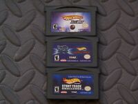 Lot Nintendo Game Boy Advance GBA Games Hot Wheels Titles 5