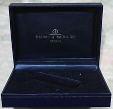originale baume & mercier vintage watch box blu used condition defect