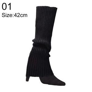 Women Leg Warmer Winter Boot Socks High Knee Thick Long Footless Strech Leggings