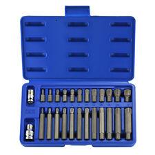 "Ribe Hex Bits | 26pc Pro Set 1/2"" 3/8"" Drive Socket Adapter 10mm Polydrive"