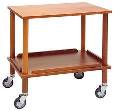 Piazza - Cart gueridon in wood 2 shelves Wooden gueridon trolley 2 levels