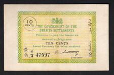 New listing Straits Settlements P-6c. 1919 10 Cents. gEf