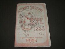 1883 SUMMER A SAINT JOSEPH FASHION FRENCH CATALOGUE - PARIS - FR 1264