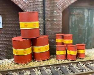 OO or O Gauge Shell Oil Drums (pack)