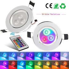 2PCS RGB Multi-Color LED Ceiling Light Recessed Panel Downlight Spot Lamp Bulb