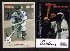 2 Detroit Tigers Auto AL KALINE Cards 1999 Fleer 2001 Fleer Greats George Kell