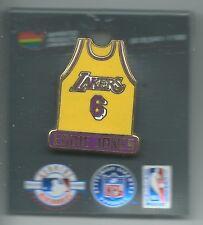 NBA Los Angeles Lakers Eddie Jones #6 Yellow Jersey Pin OOP LIMITED!!!