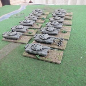 1/144 Scale (10/12mm Minis) Painted Modern Soviet T72 Tanks, probably Trumpeter