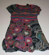 Desigual NWT Girls Anchorage Dress Sleeveless Tropical Print Cotton Sizes 5-14