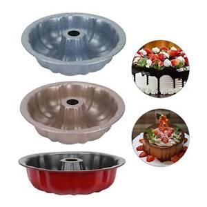 Non Stick Cake Mould Fluted Ring Cake Tin 24cm Cake Pan Tray Bakeware UK
