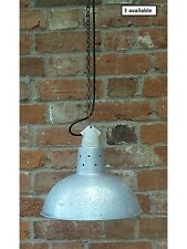 Vintage Aluminium & Ceramic Industrial Pendant light/lamps Rewired 3 Available