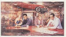 HOLLYWOOD STARS DINER SCENE MINT STAMP SHEETLET - MARILYN MONROE ELVIS BOGART