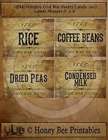 Primitive Early Days Garden Vegetable Relish Pickled Labels • #16115 • Set #3