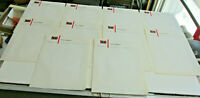 10 Vintage 1940s ROUX PHARMACY Fort Wayne Indiana Letterheads, Stationary Sheets