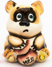 Winnie the Pooh Винни Пух Bear with Honey jar Gzhel porcelain figurine souvenir