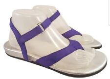 Arche made in France woman sandals thongs gladiator nubuck purple/silver 40 EUC