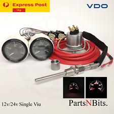 VDO 52mm PYRO PYROMETER EGT KIT + BOOST GAUGE KIT 4WD TRUCK CAR BOAT SINGLE VIU